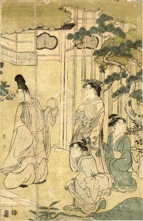 Eishi, Hosoda, 1756-1829, Genjie (rechtes Oban von einem Tri