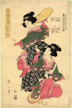 Eizan, Kikugawa, 1787-1867, Bijinga (Oban, ca. 1811)