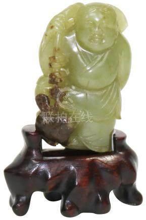 清 Qing Dynasty (1644 - 1938)  黃玉劉海戲金蟾連舊座