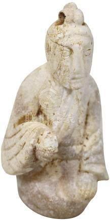 漢代 HanDynasty (206BC-225AD)  鷄骨白小跪俑