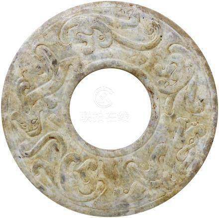 漢代 HanDynasty (206BC-227AD)  螭虎龍璧