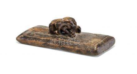 LARGE WOODEN SEAL