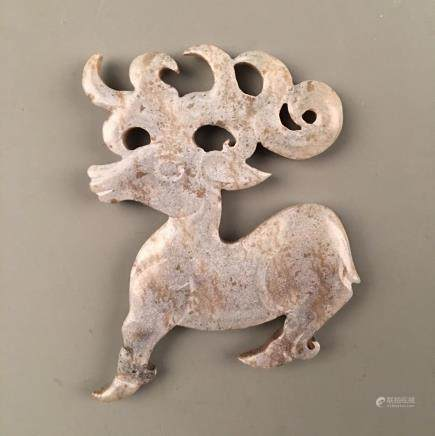 Chinese Archaic Jade 'Deer' Ornament