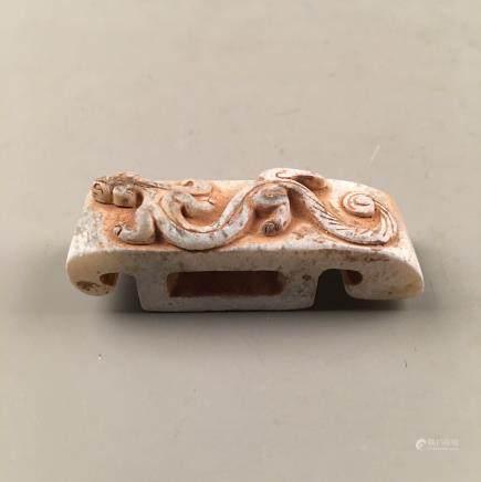 Chinese Archaic Jade 'Rui Shou' Paperweight