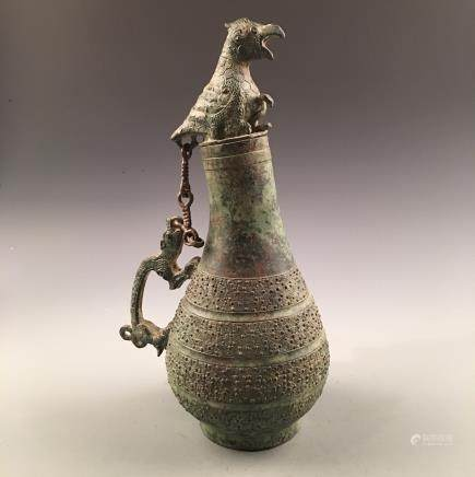 Chinese Bronze Wine Vessel