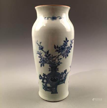 Chinese Blue-White 'Flower' Vase