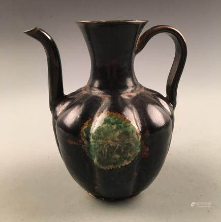 Chinese Jizhou Ware 'Leaf' Pitcher