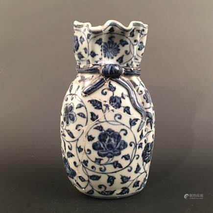 Chinese Blue-White 'Floral' Vase