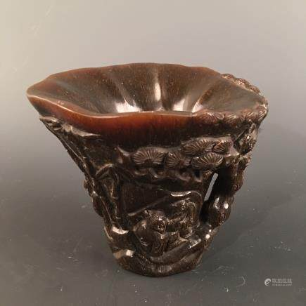Chinese Ox-Horn Wine Cup