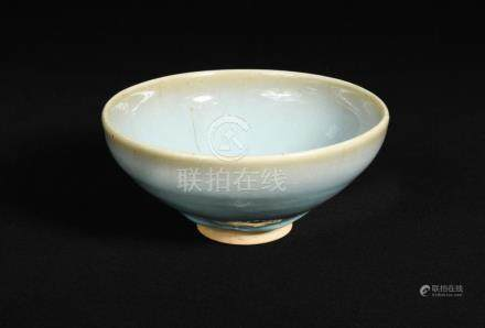 A Northern Song dynasty blue Junyao bowl, with rounded sides rising to a slightly incurved rim