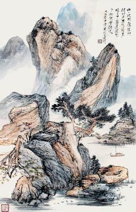 唐雲    湖山垂釣圖