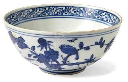 Kleine Blauweiß-SchaleChina, späte Ming-Dynastie, 16. Jh.Leicht bauchige Form über rundem Standring;