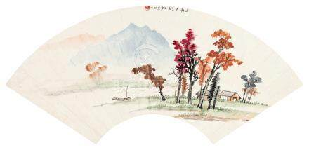 红叶秋山图