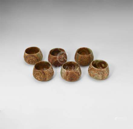 Western Asiatic Style Carved Bowl Set