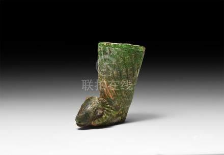 Western Asiatic Style Ram's Head Rhyton Cup