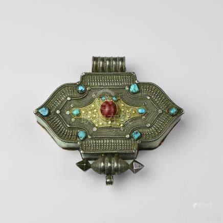Tibetan Jewelled Amulet Box