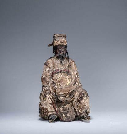 木雕文官坐像