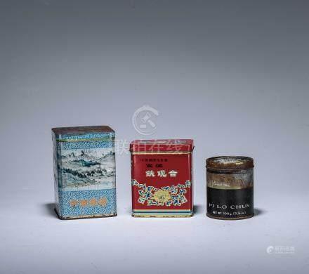 70年代 中國福建烏龍茶 安溪鐵觀音 125g、中國綠茶、碧螺春