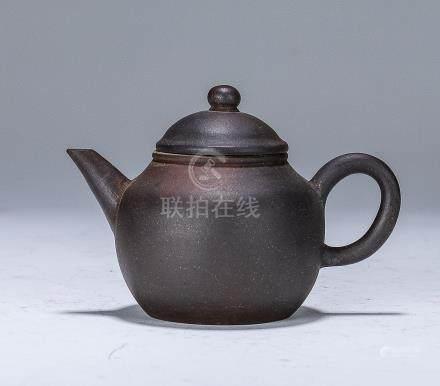 清 紫砂秋水壺