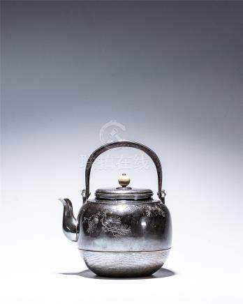 中川淨益九世造 銀壺