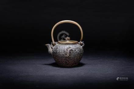 初代 龜文堂 小鐵壺