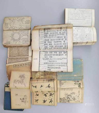 China/Korea Konvolut sehr alter Drucksachen, verschiedene Themen, u.a. wohl Akkupunktur etc.,