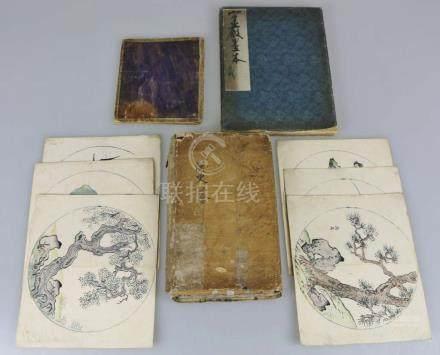 China/Korea Konvolut sehr alter Drucksachen und Tuschezeichnungen. Teils wohl Geschichte der Han