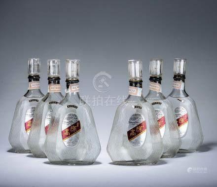 民國78年 金門陳年高粱酒 三瓶、民國80年 金門陳年高粱酒 三瓶