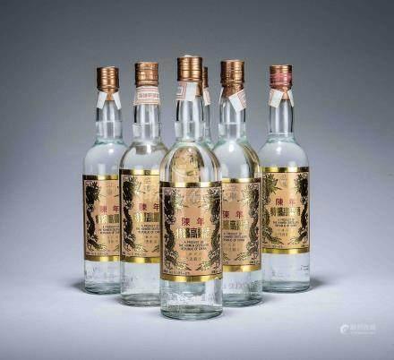 民國83年 陳年特級高粱酒黑金剛 六瓶