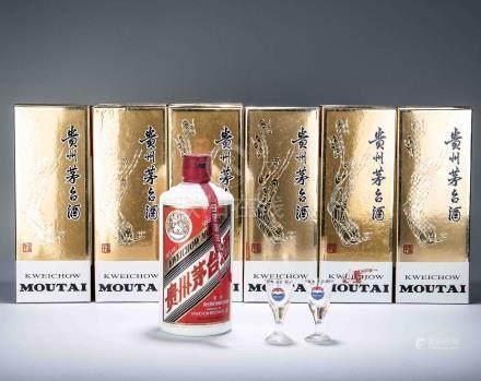 2012年 貴州茅台酒(醬香型白酒) 六瓶