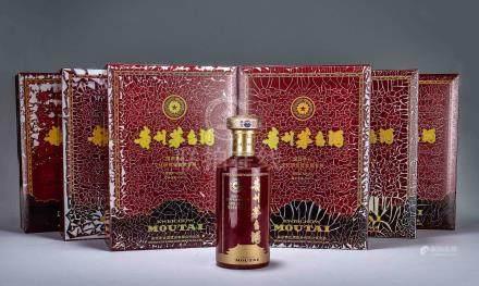 2013年 貴州茅台酒(醬香型白酒) 原封箱六瓶