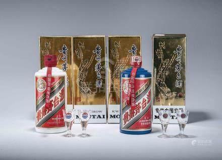 2009年 貴州茅台酒(醬香型) 三瓶、2009年 貴州茅台酒(醬香型) 專供中國空軍 一瓶