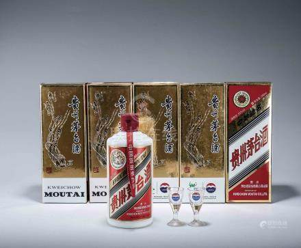 2010年 貴州茅台酒(醬香型白酒) 五瓶