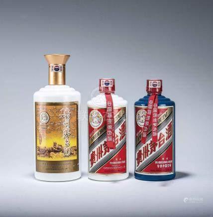 2005年 貴州茅台酒 二瓶、2009年 貴州茅台酒 一瓶