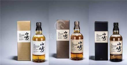 山崎Yamazaki-Puncheon 2012年單一麥芽威士忌 二瓶、Yamazaki-Heavily Peated 2013年單一麥芽威士忌 一瓶