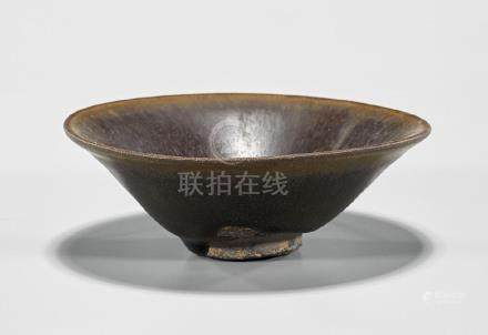 Chinese Song Dynasty 'Hare's Fur' Glazed Tea Bowl
