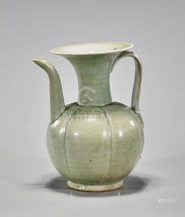 Chinese Song-Style Celadon Glazed Ewer
