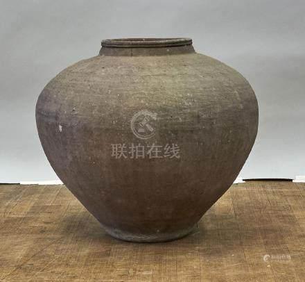 Massive Antique Southeast Asian Martaban Pottery Jar