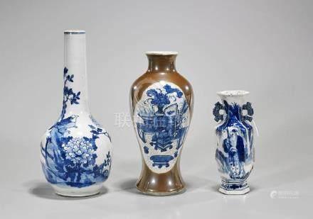 Three Antique Chinese Porcelain Vases