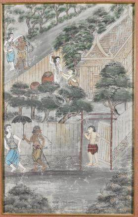 Antique Indonesian Painting