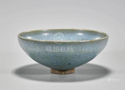 Large Chinese Song Dynasty Junyao Glazed Bowl