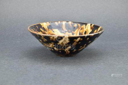 Song Dynasty Tortoise Shell Black-Glaze Bowl