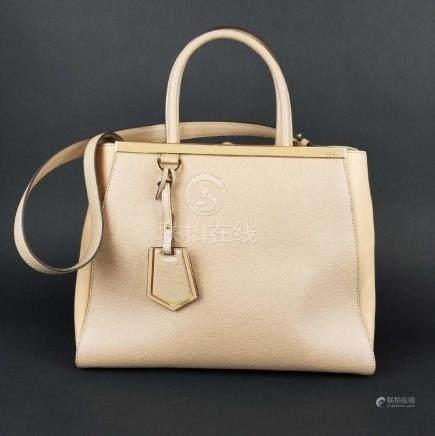 Fendi Medium 2Jours Tote Leather Handbag