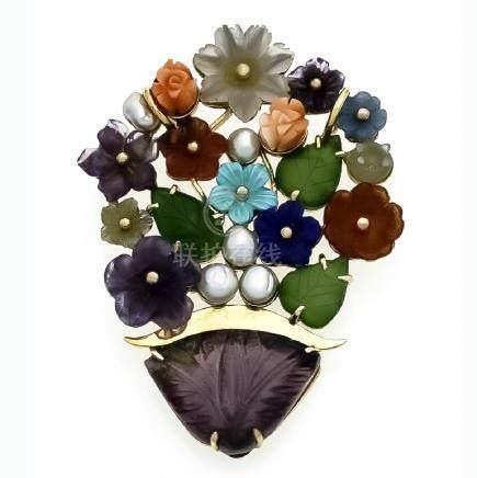 Blumenstraußanhänger GG 585/000 fein