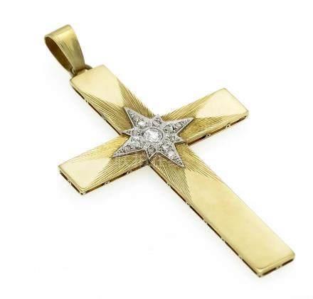 Altschliff-Diamant-Kreuz GG/WG 530/000 mit einem