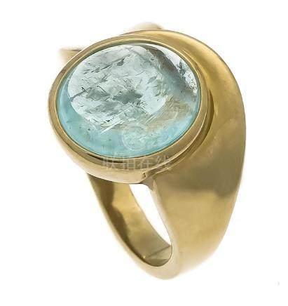 Apatit-Ring GG 375/000 mit einem ovalen,