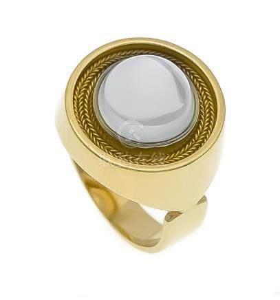Mondstein-Ring GG 750/000 mit einem runden