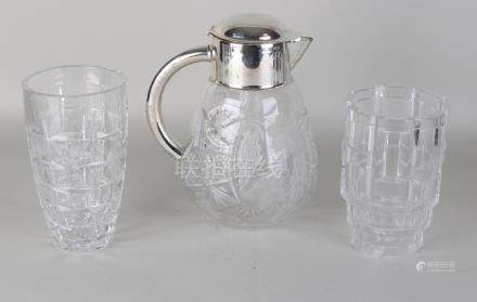Three parts of crystal glass. 20th century. Consisting