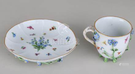Rare 19th century German Meissen porcelain cup and
