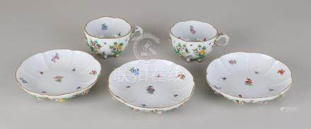19th century rare German Meissen porcelain cup and